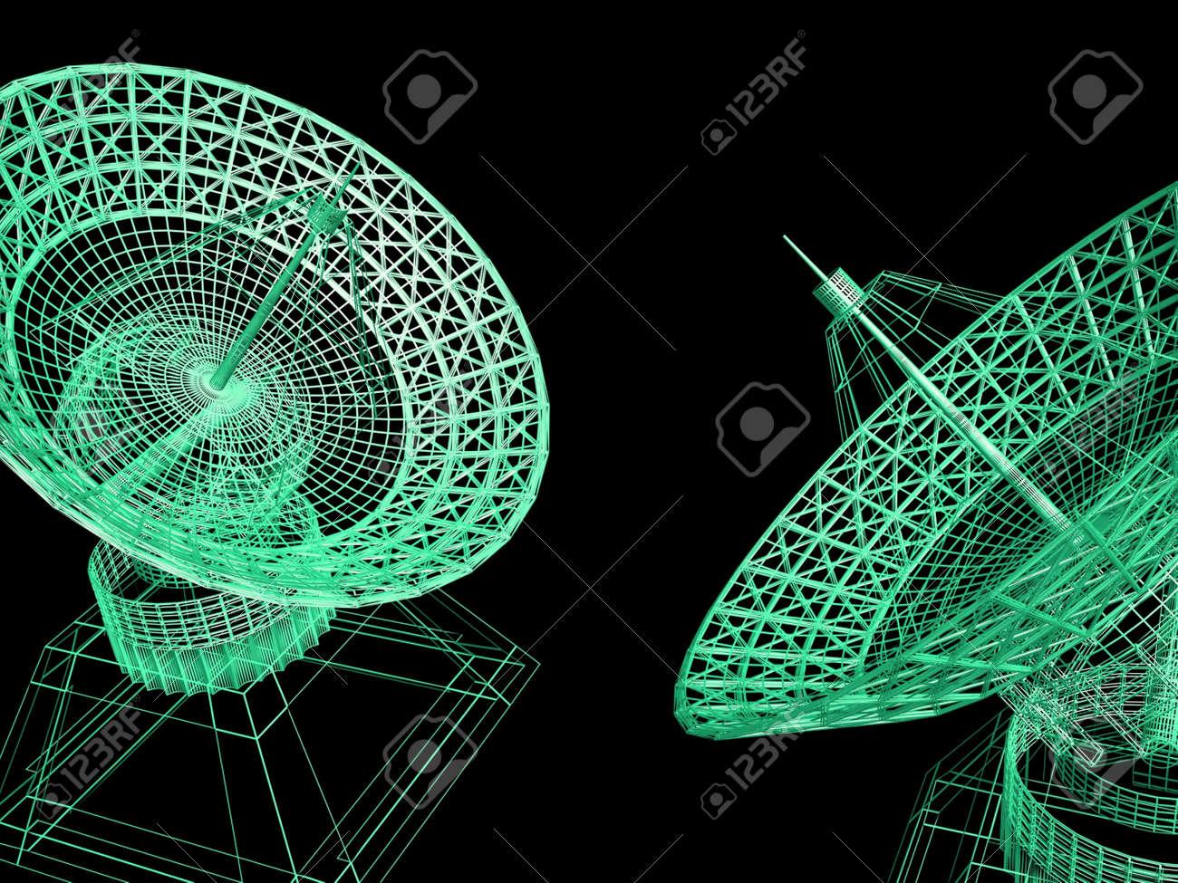 Satellite dishes - 12583891