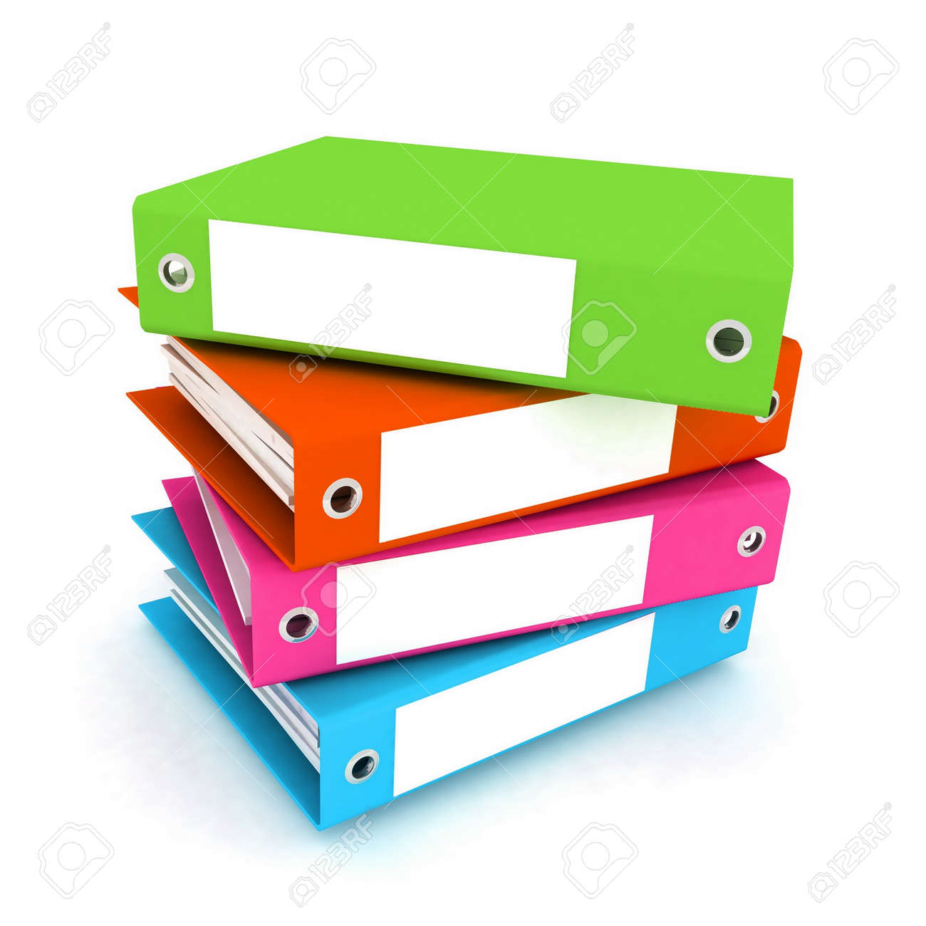 folders for papers on a white background Stock Photo - 12584956