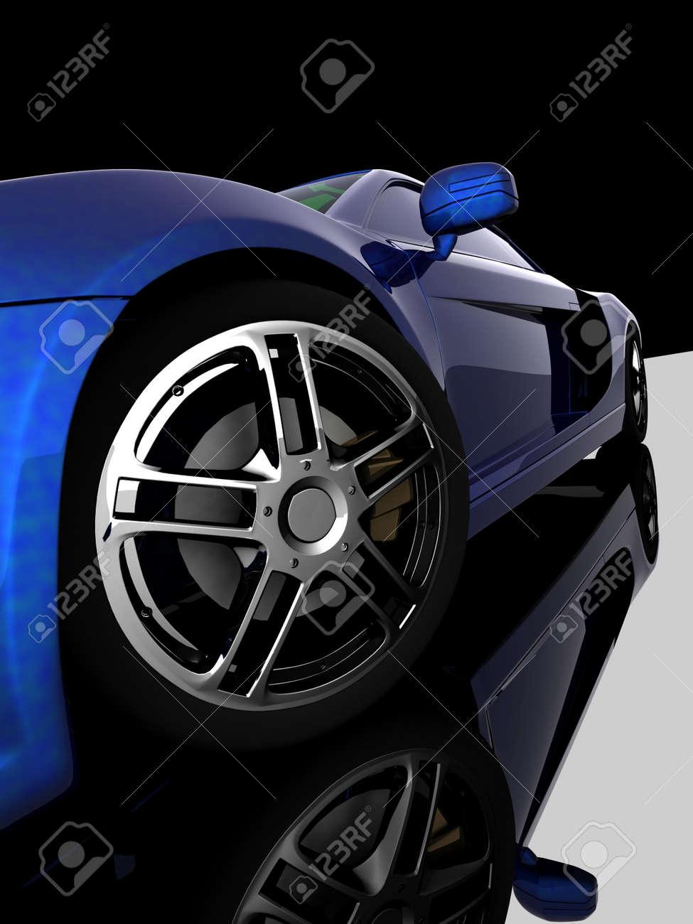 Closeup of wheels of machine on black background Stock Photo - 12800878