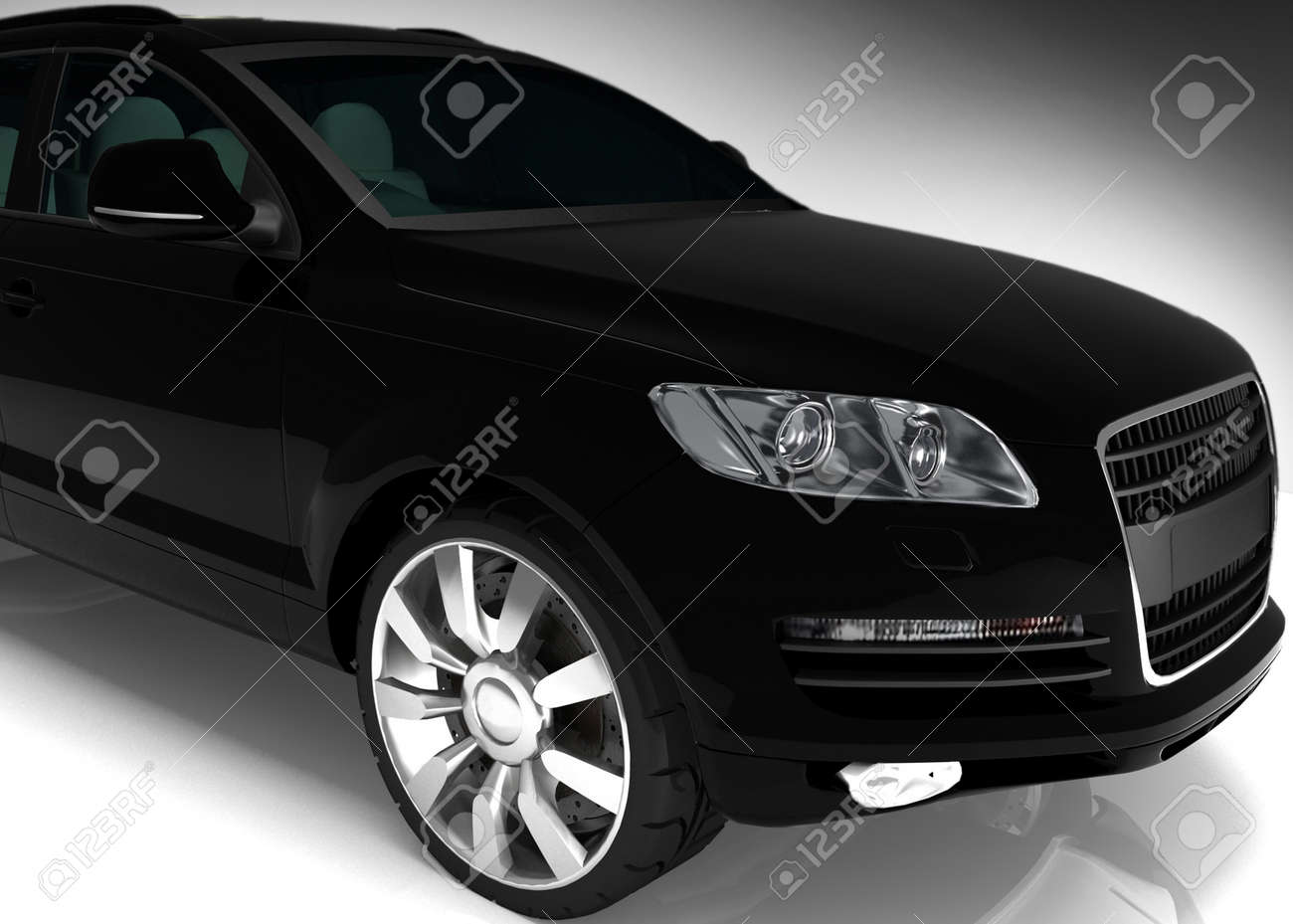 Black auto Stock Photo - 13407840