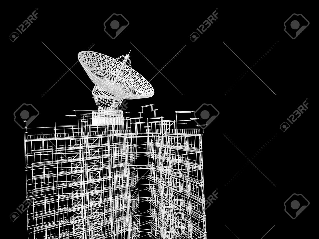 Abstract architectural 3D construction Stock Photo - 13611807