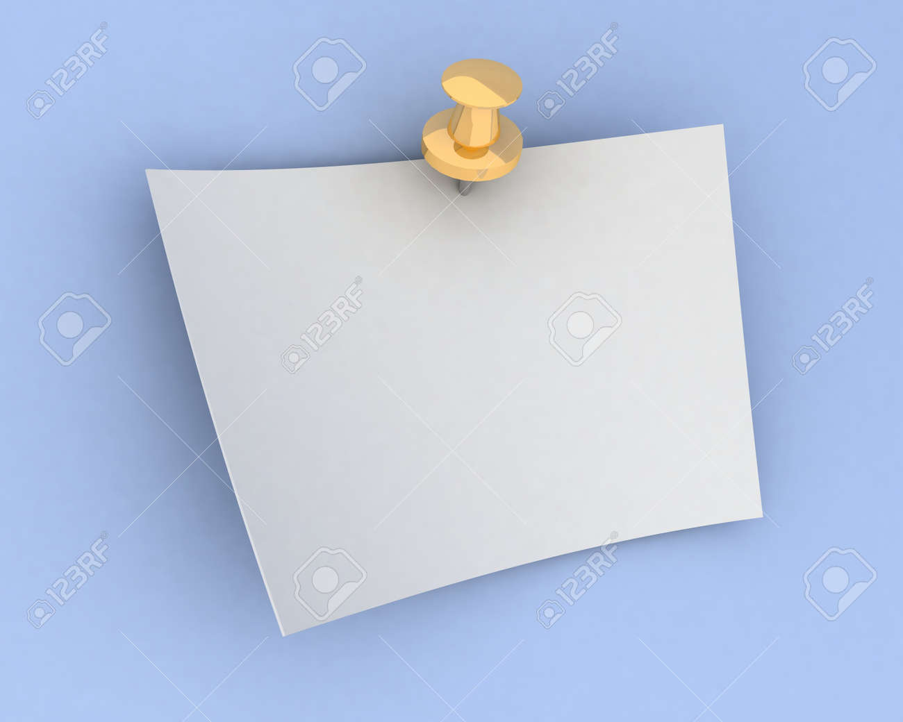 sheet of paper on the button Stock Photo - 13993759