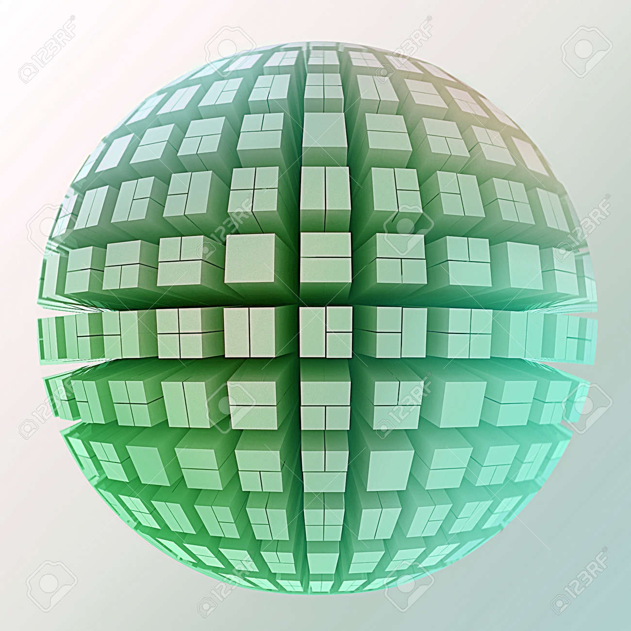 Globe of cubes Stock Photo - 14554507