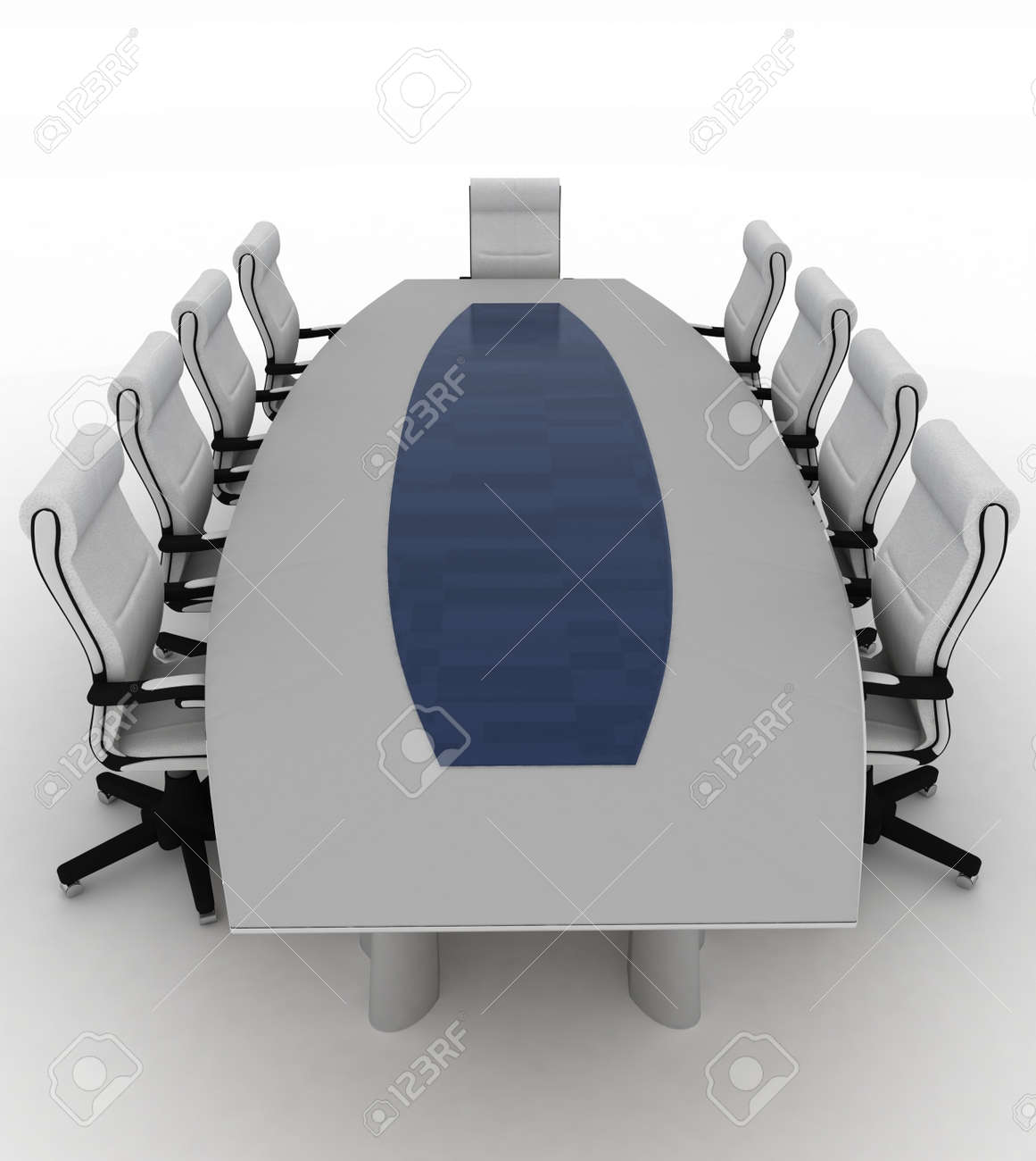 Conference Table with empty chairs for modern office. Stock Photo - 17068786