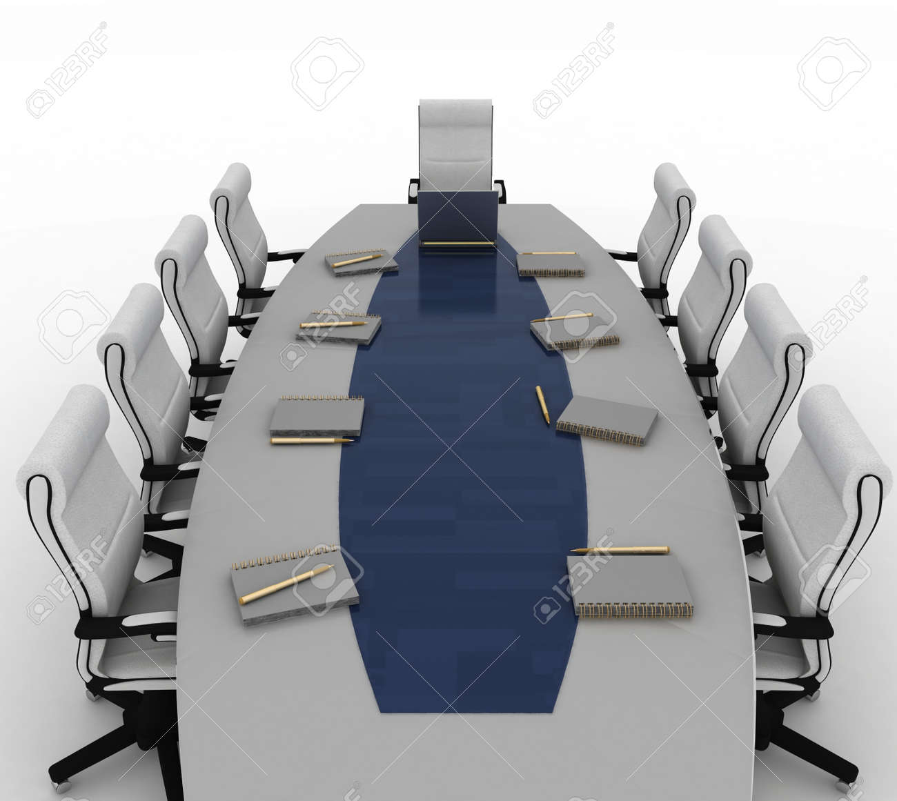 Conference Table with empty chairs for modern office Stock Photo - 17210020