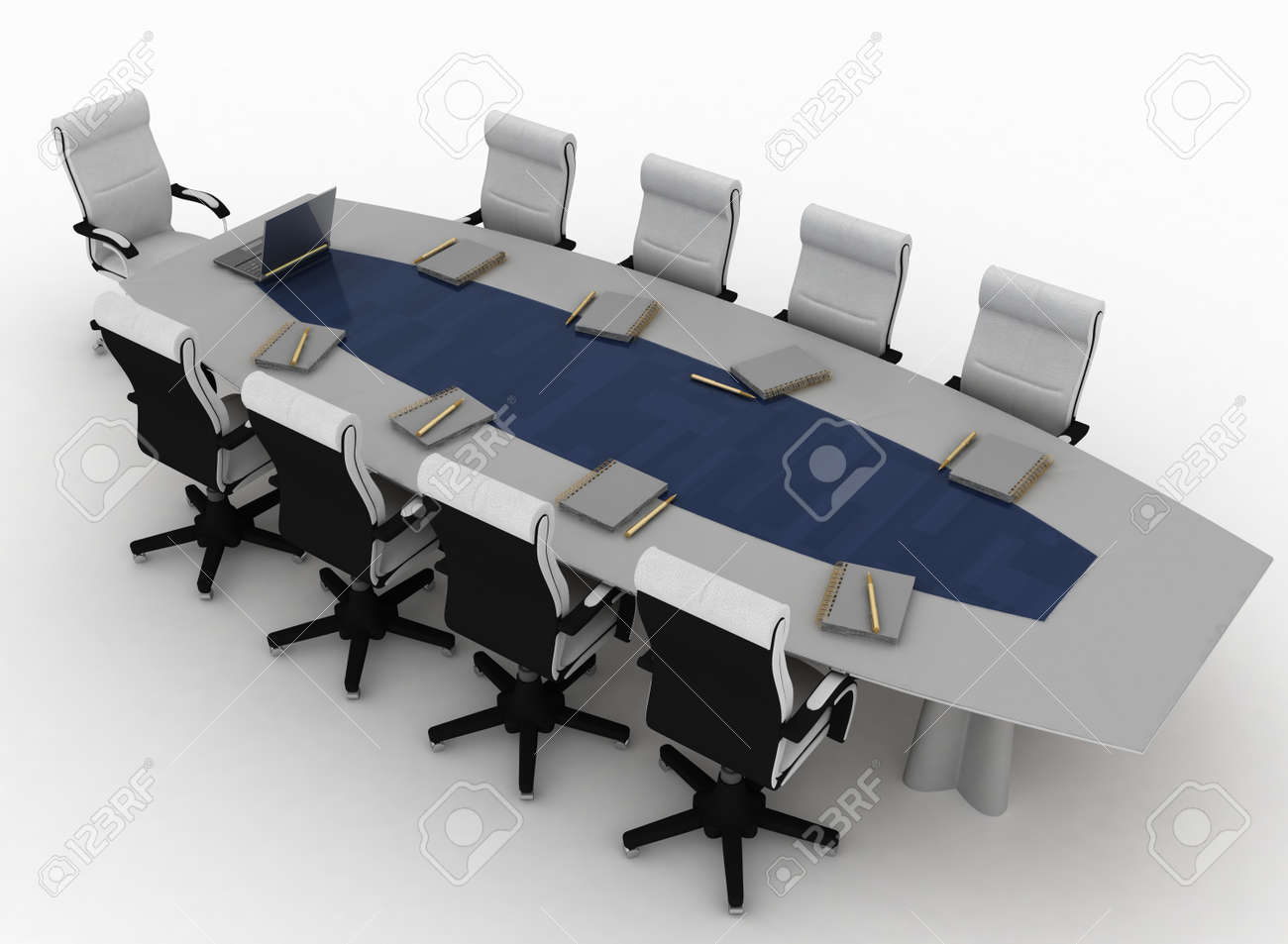 Conference Table with empty chairs for modern office