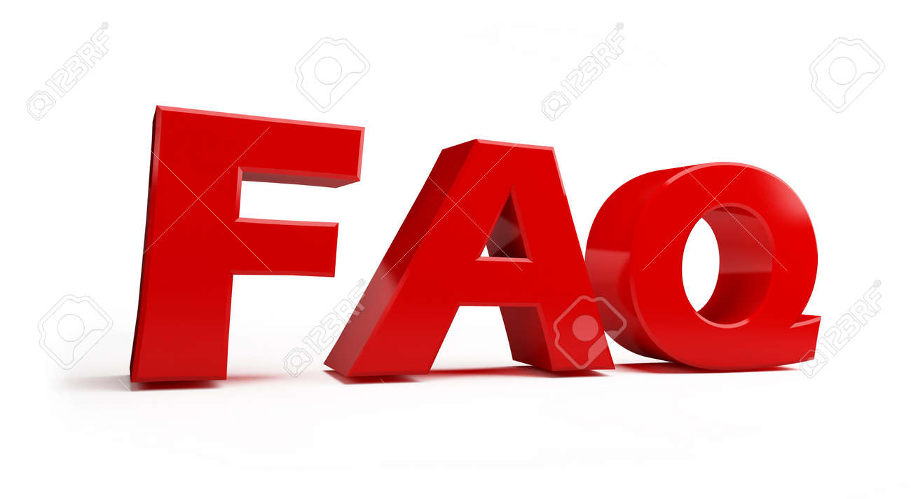 faq red on a white background Stock Photo - 4803796