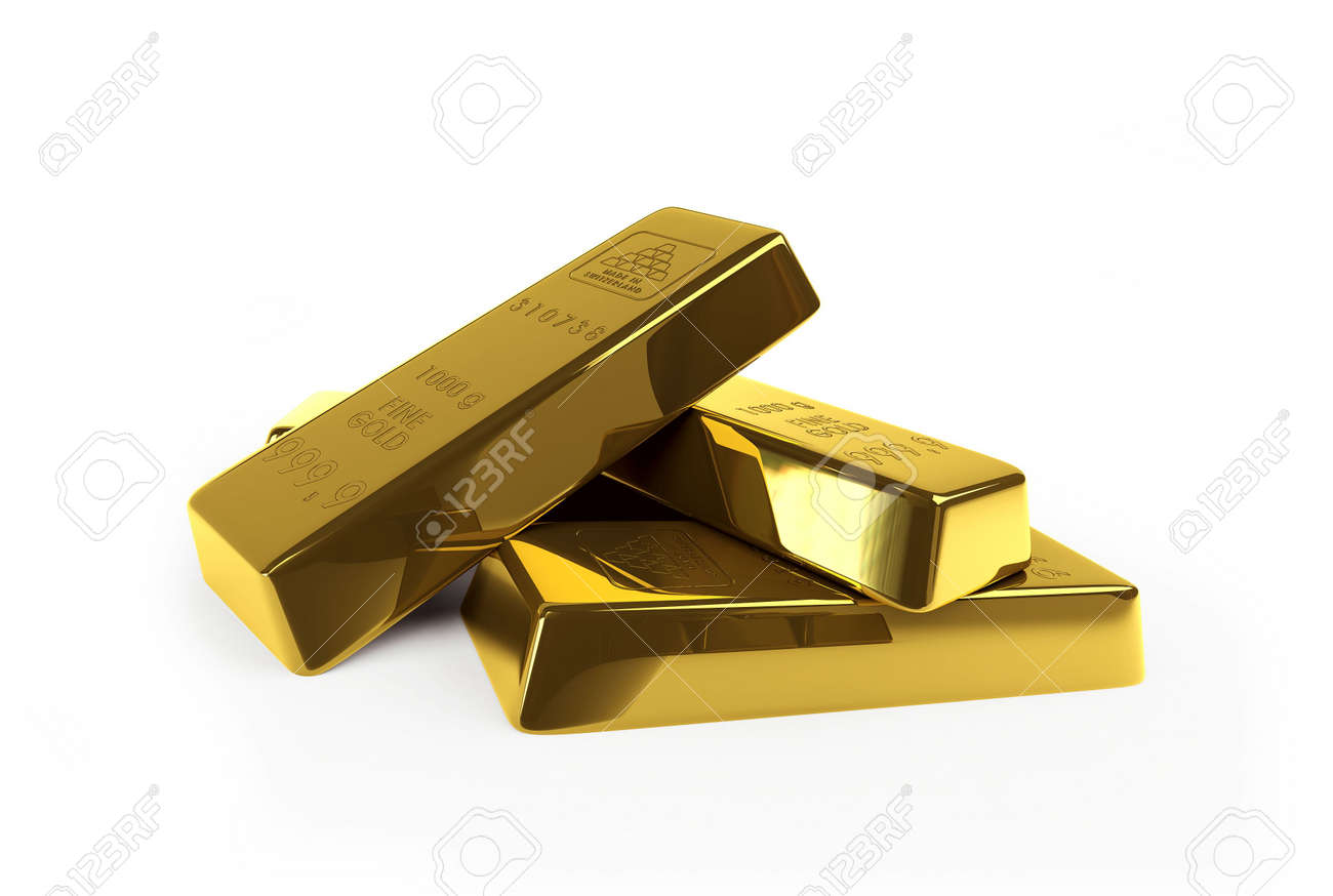 gold on a white background Stock Photo - 5106732