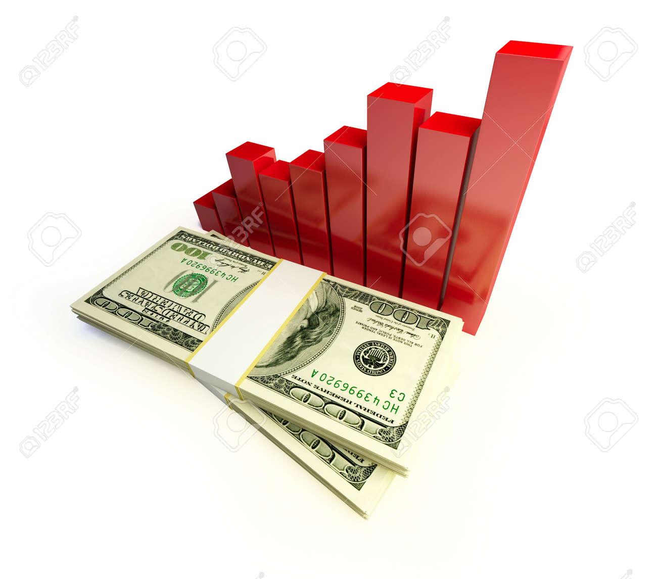 cash diagram Stock Photo - 6341253