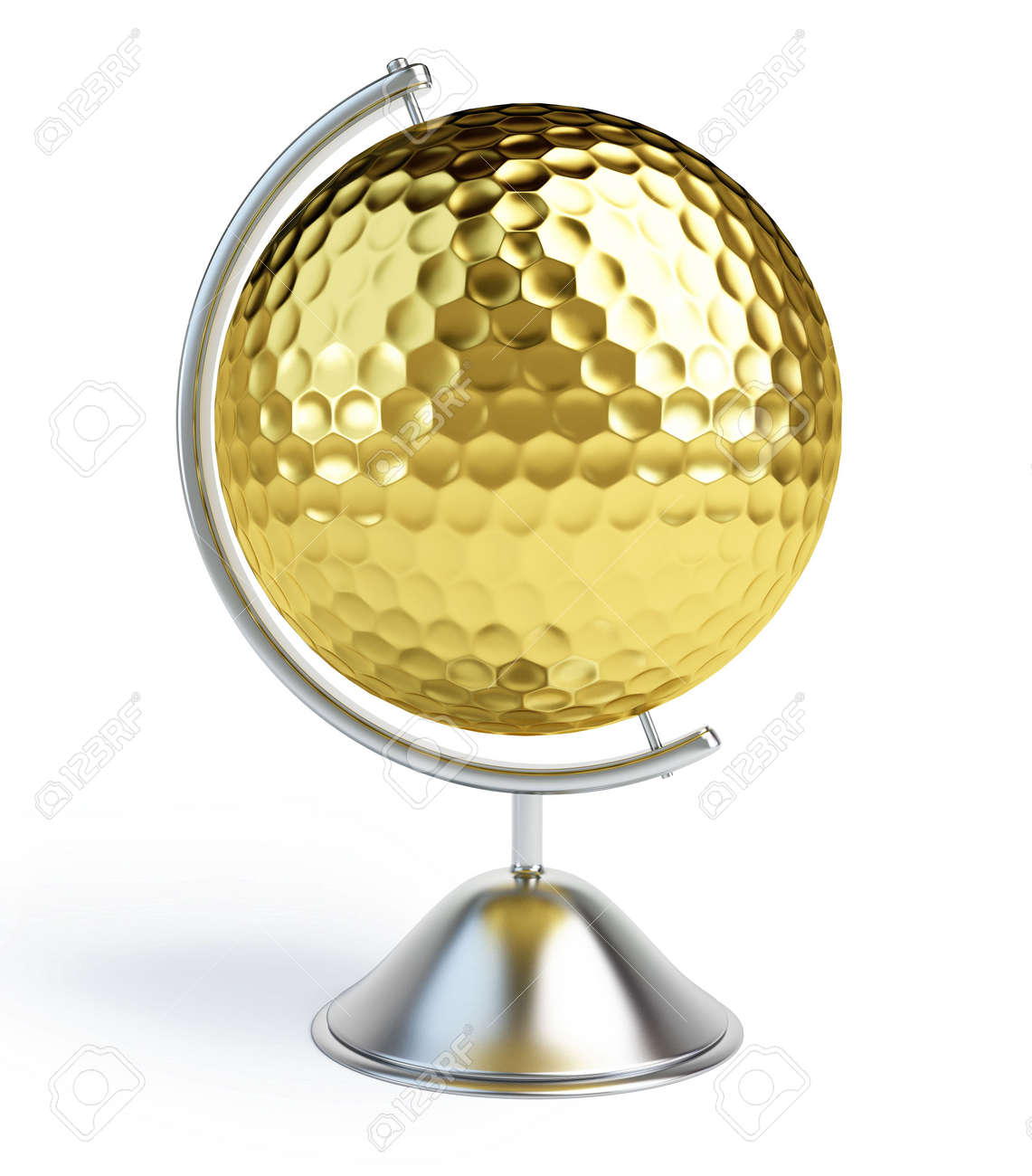 globe golf ball sign Stock Photo - 7042287