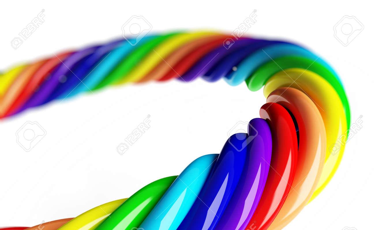 rainbow spiral on a white background Stock Photo - 8458606