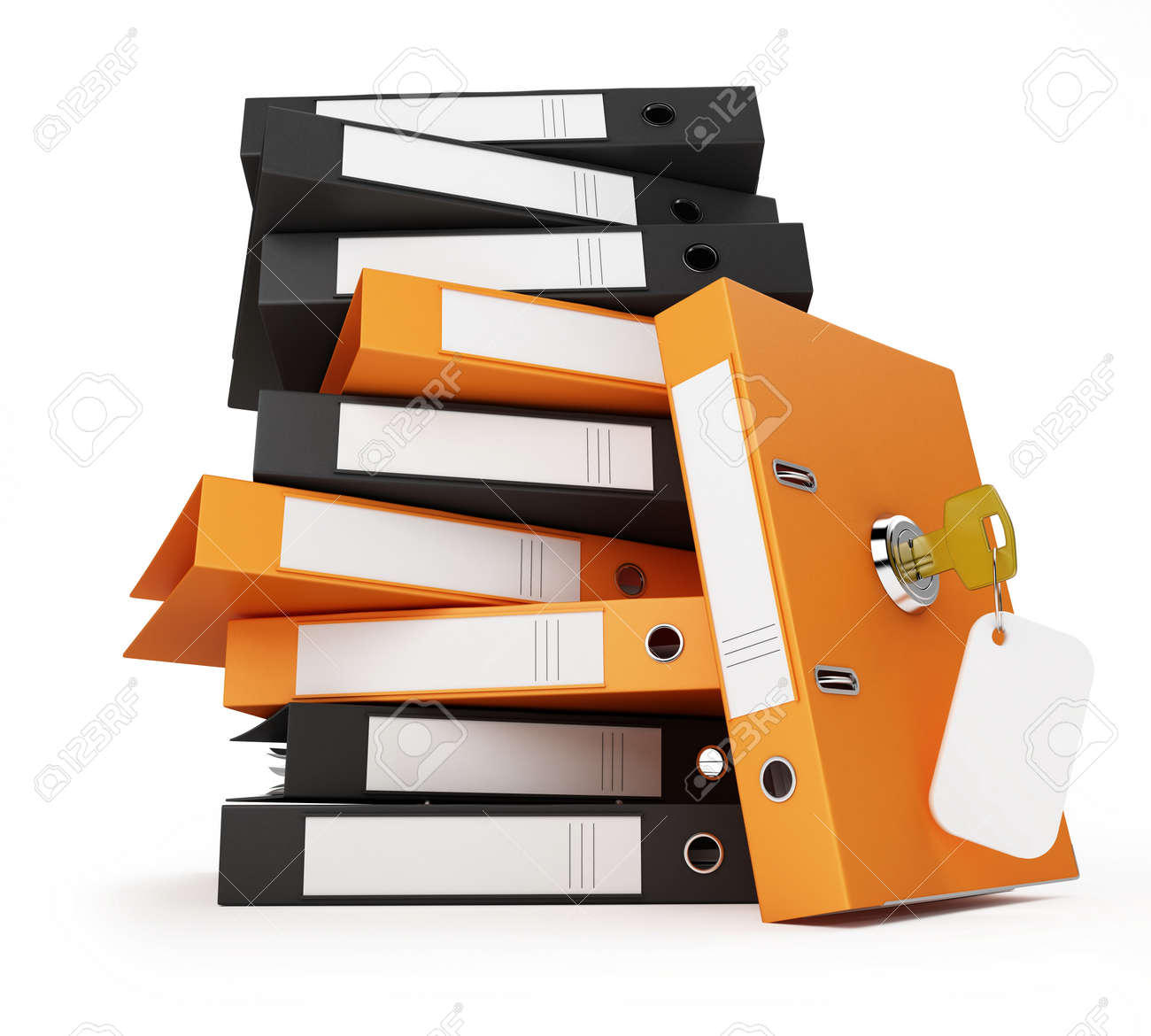 Security Office Documents And Folders Stock Photo, Picture And ...