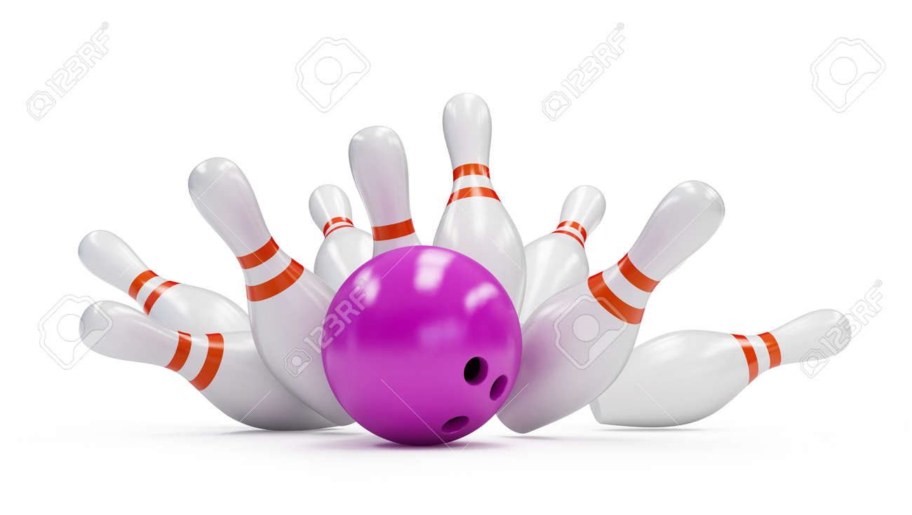 Skittle And Bowling Ball Stock Photo, Picture And Royalty Free ...