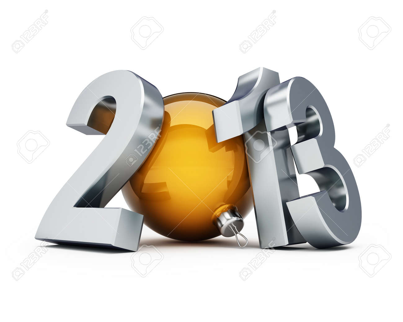 happy new year 2013 on a white background Stock Photo - 13871238