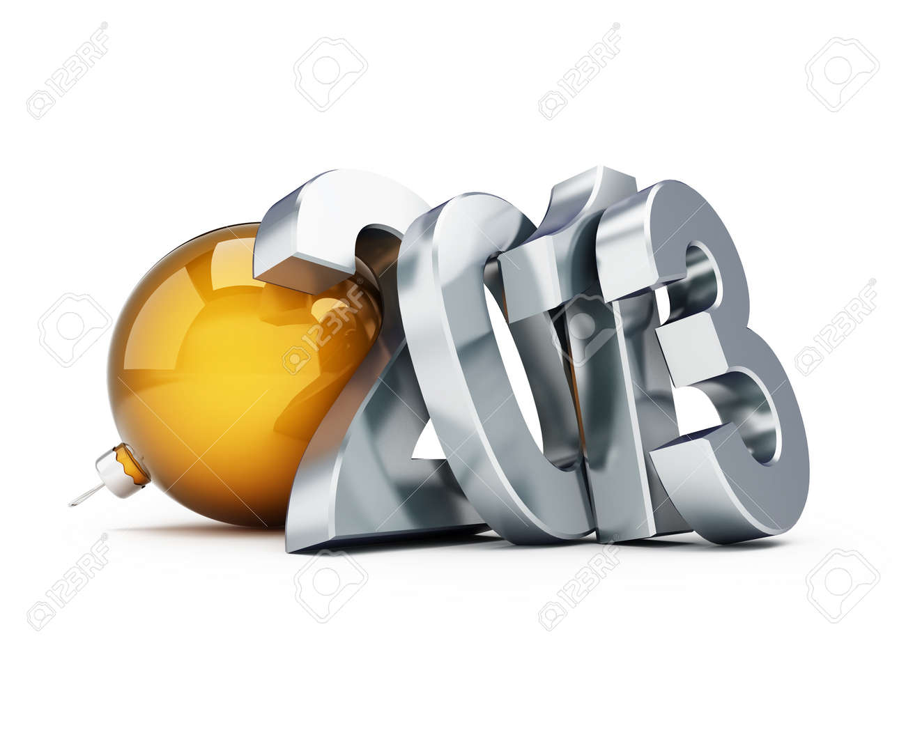 happy new year 2013 on a white background Stock Photo - 13871269