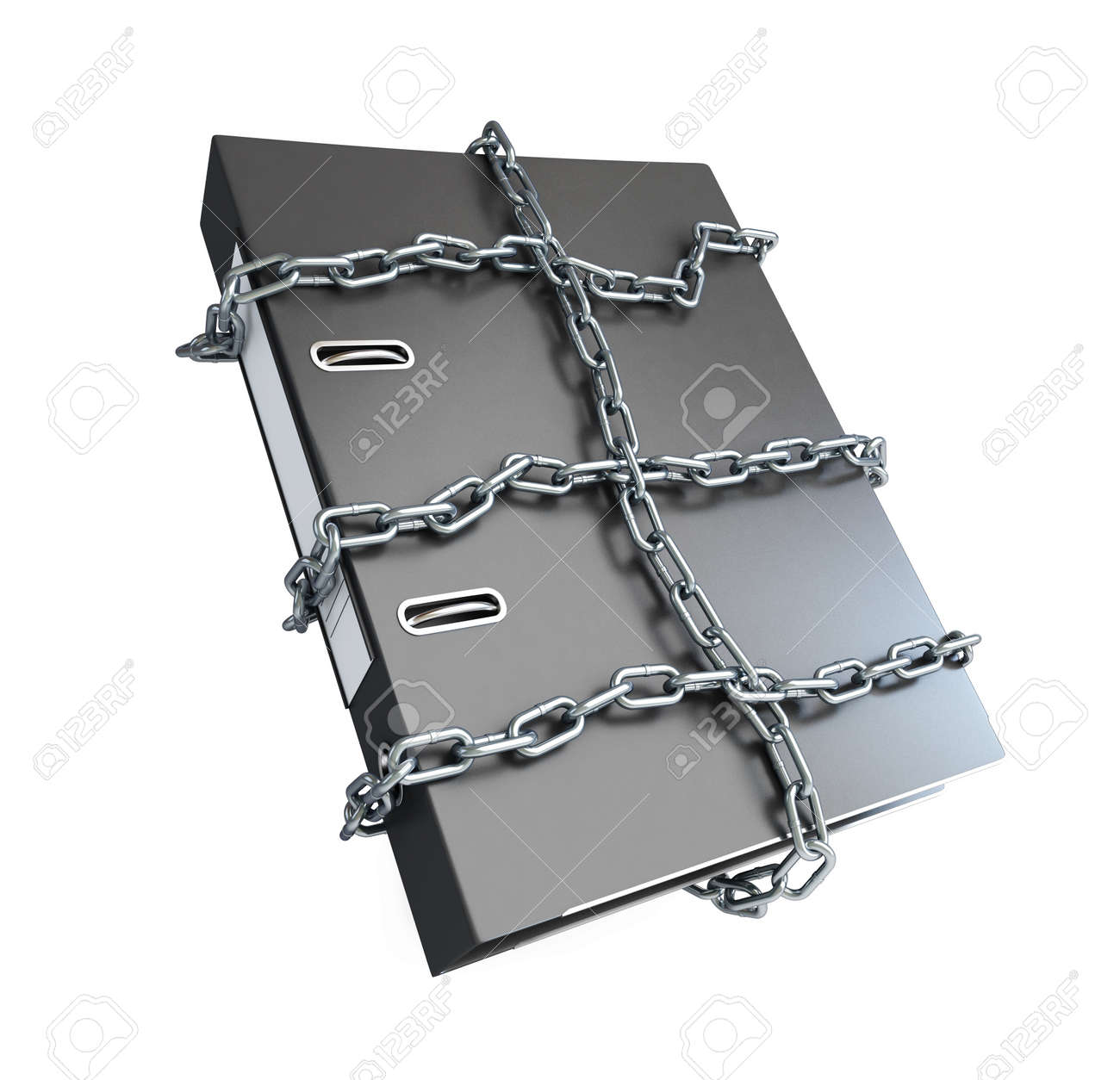 Protect folder on a white background Stock Photo - 14668432