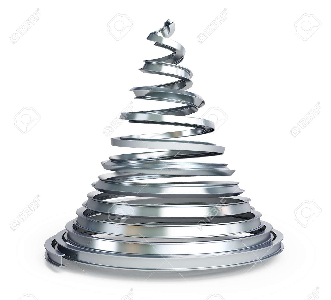 Weihnachtsbaum Metall.Stock Photo