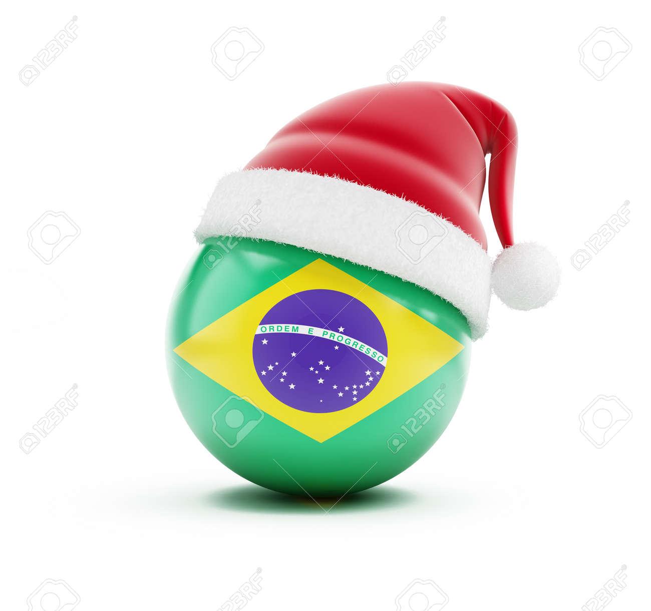 Brazil Christmas.Christmas In Brazil On A White Background