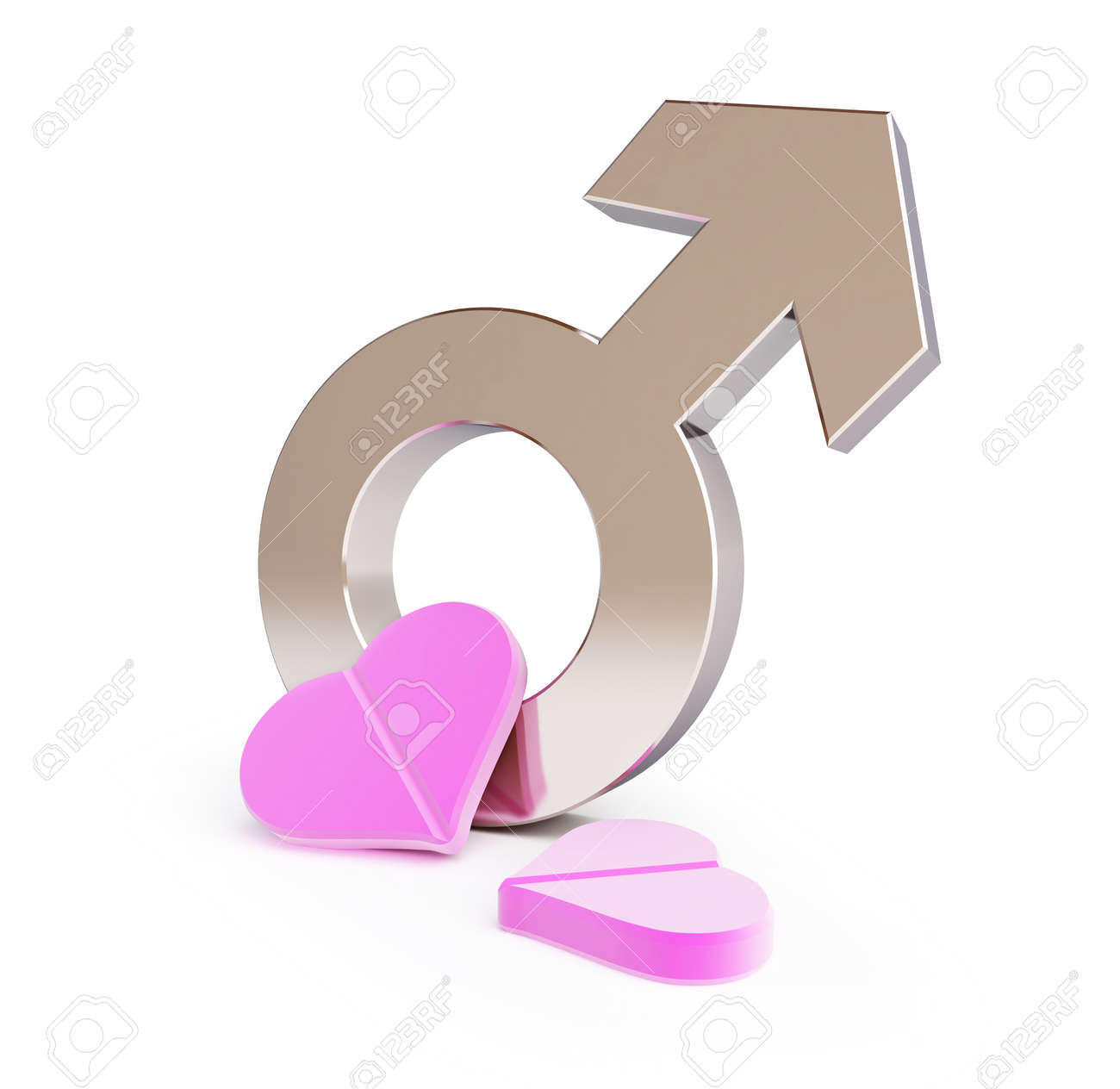 love pill for men on a white background Stock Photo - 16373825