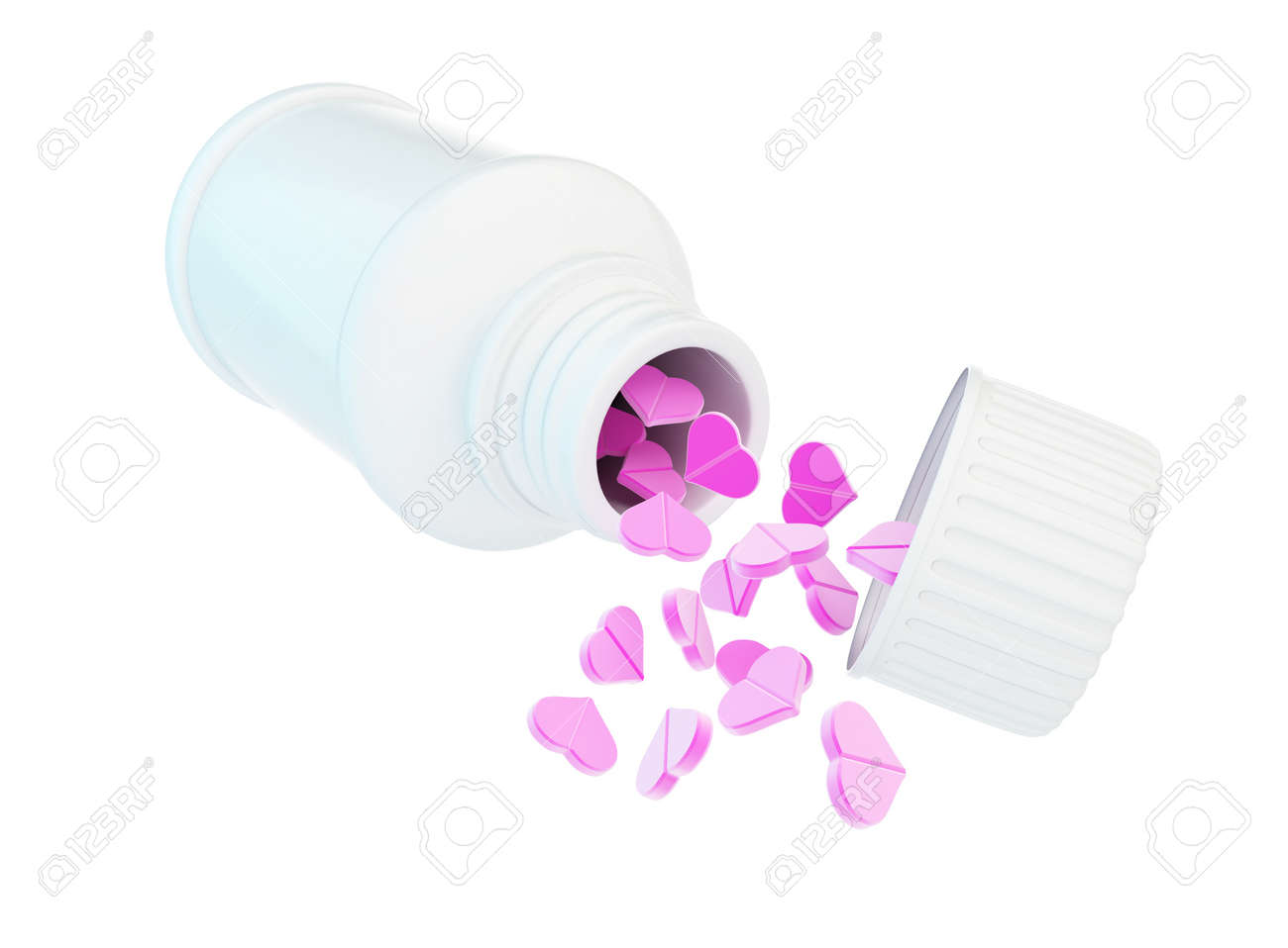 container for tablet heart on a white background Stock Photo - 17215547