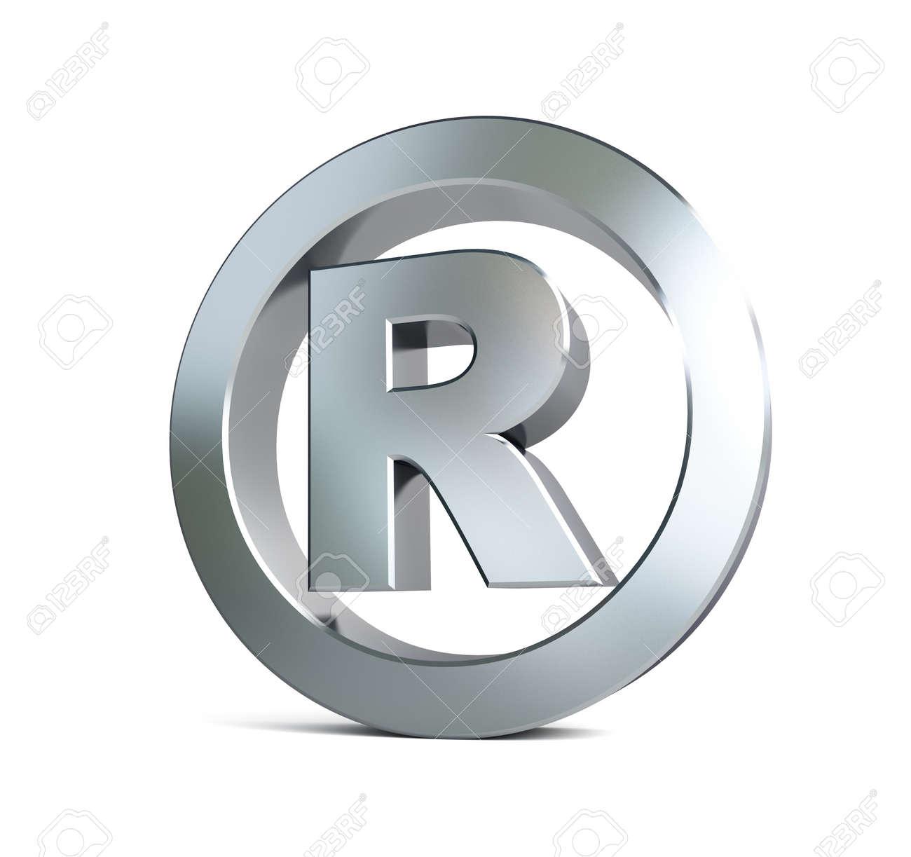 registered trademark sign 3d Illustrations on a white background Stock Illustration - 18199331