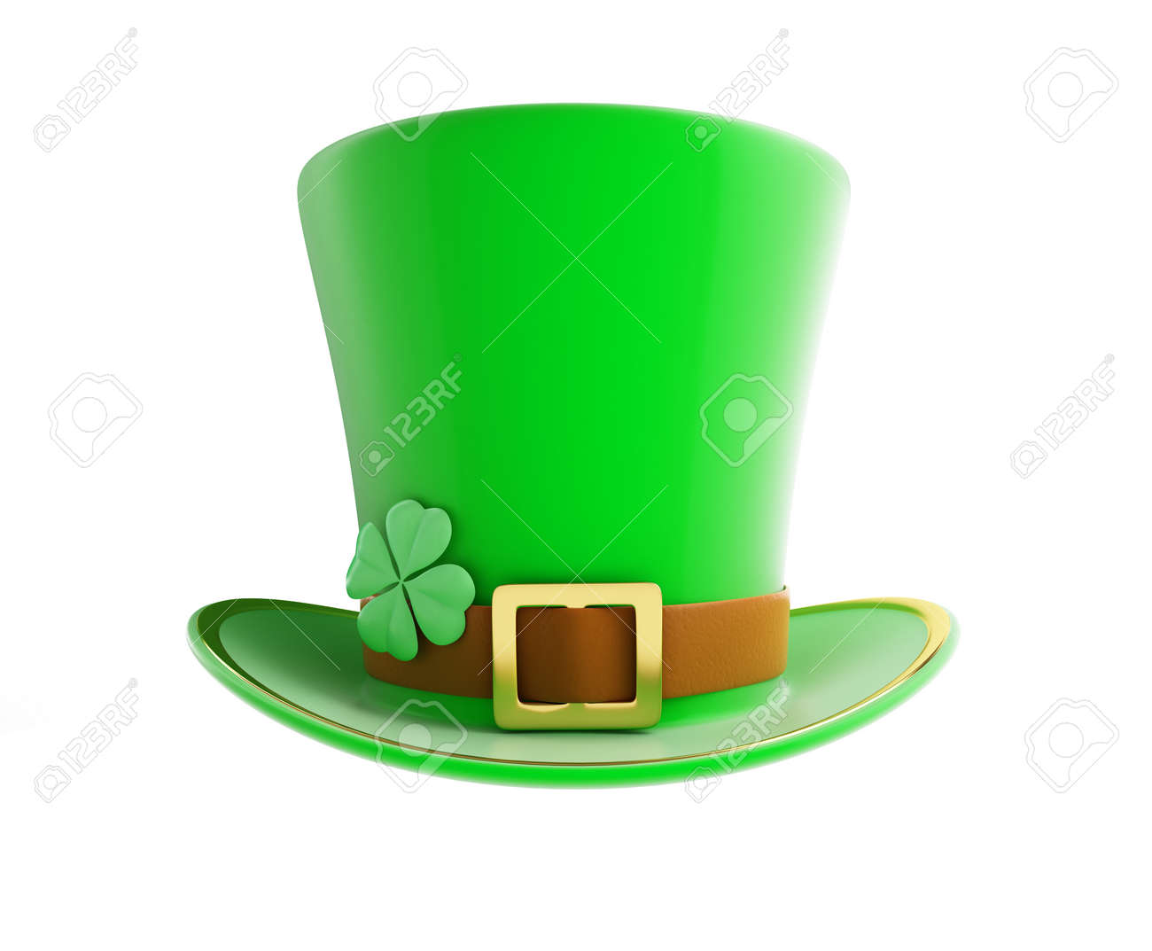 St. Patrick's day green hat on a white background Stock Photo - 26446553