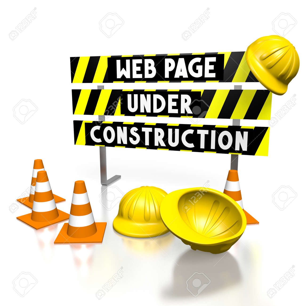 3d Web Page Under Construction Stock Photo Picture And Royalty Free