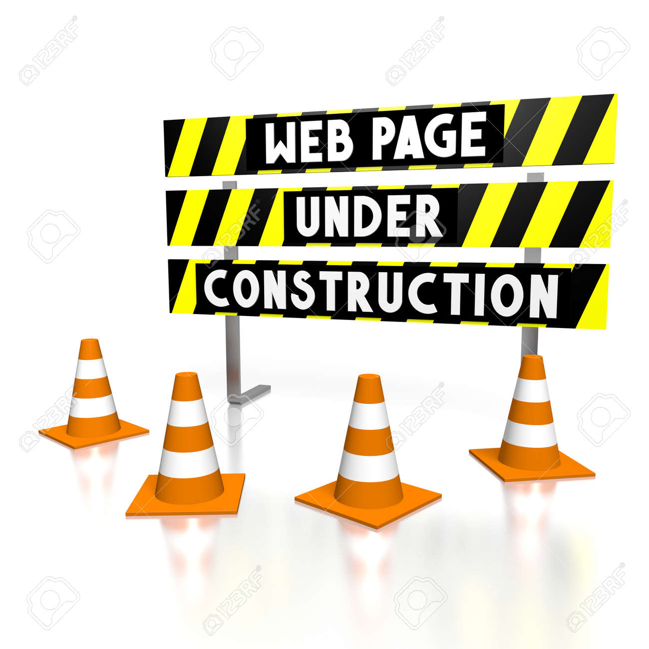 3D Web Page Under Construction Stock Photo, Picture And Royalty Free Image.  Image 79350107.