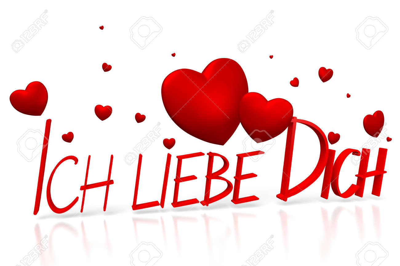 3d Ich Liebe Dich I Love You German Stock Photo Picture And