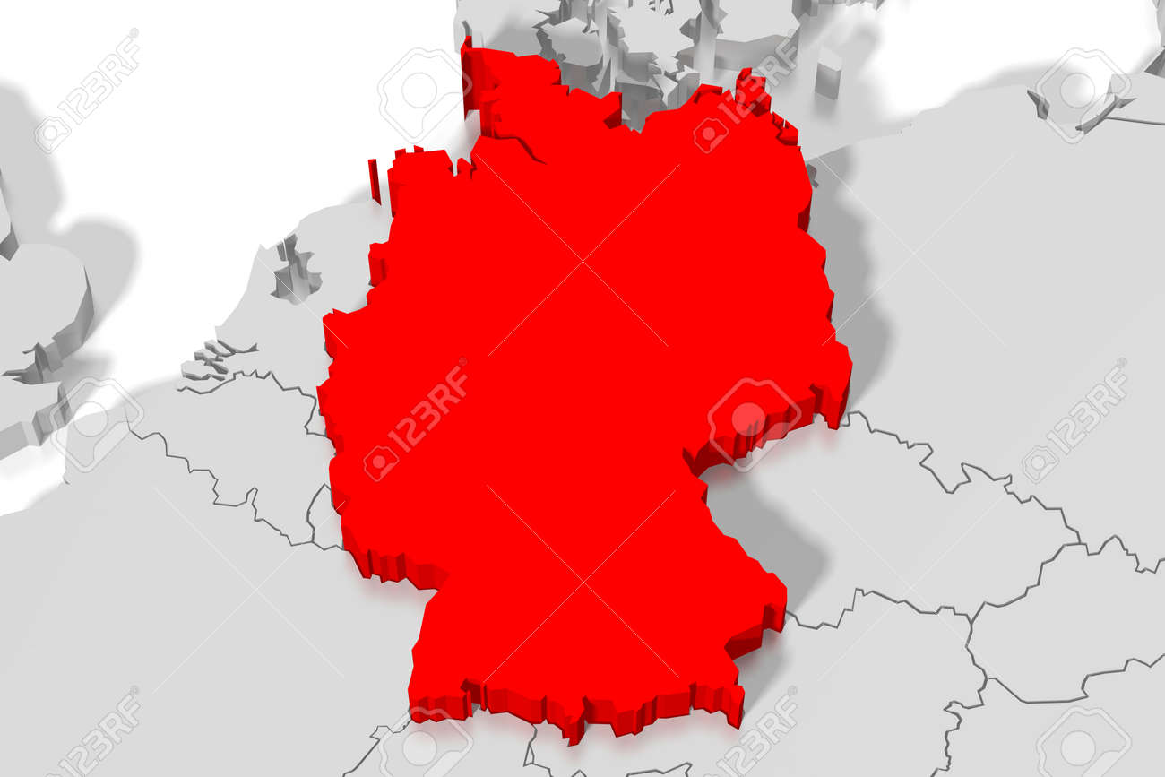 Map Of Germany 3d.3d Map Germany Stock Photo Picture And Royalty Free Image Image