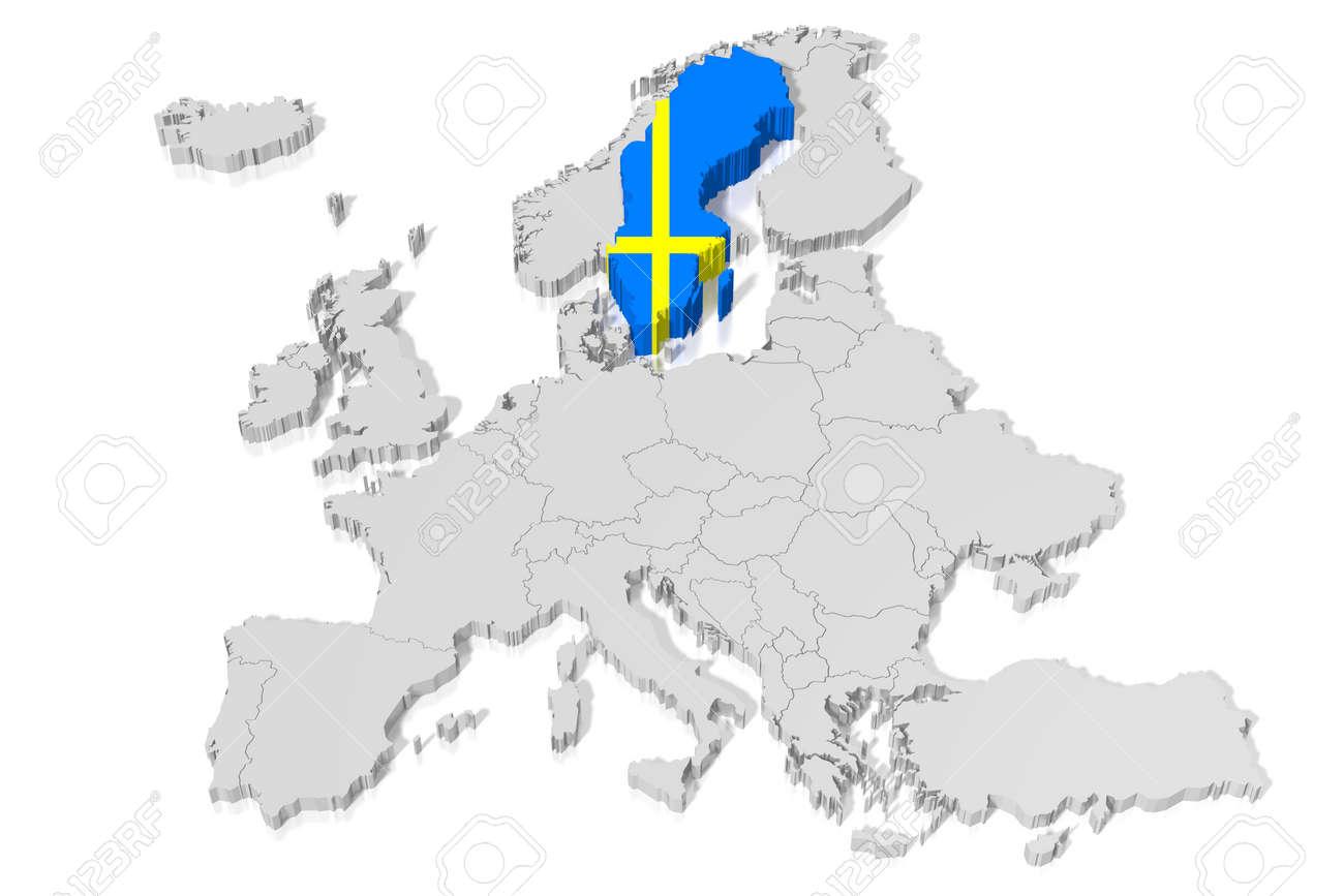 3D map, flag - Sweden  D Map Of Sweden on street view of sweden, outline map of sweden, blackout map of sweden, interactive map of sweden, travel map of sweden, coloring map of sweden, cartoon map of sweden, cute map of sweden, vintage map of sweden, hd map of sweden, food map of sweden, terrain map of sweden, print map of sweden, google map of sweden, black map of sweden,