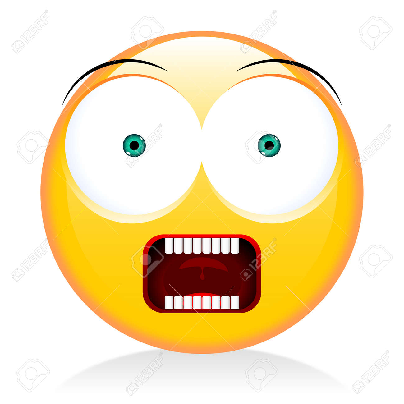 emoji emoticon scared stock photo picture and royalty free image