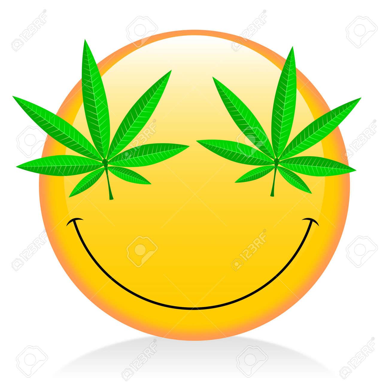 Emoji - Smoking Weed Stock Photo, Picture And Royalty Free Image. Image  83031488.