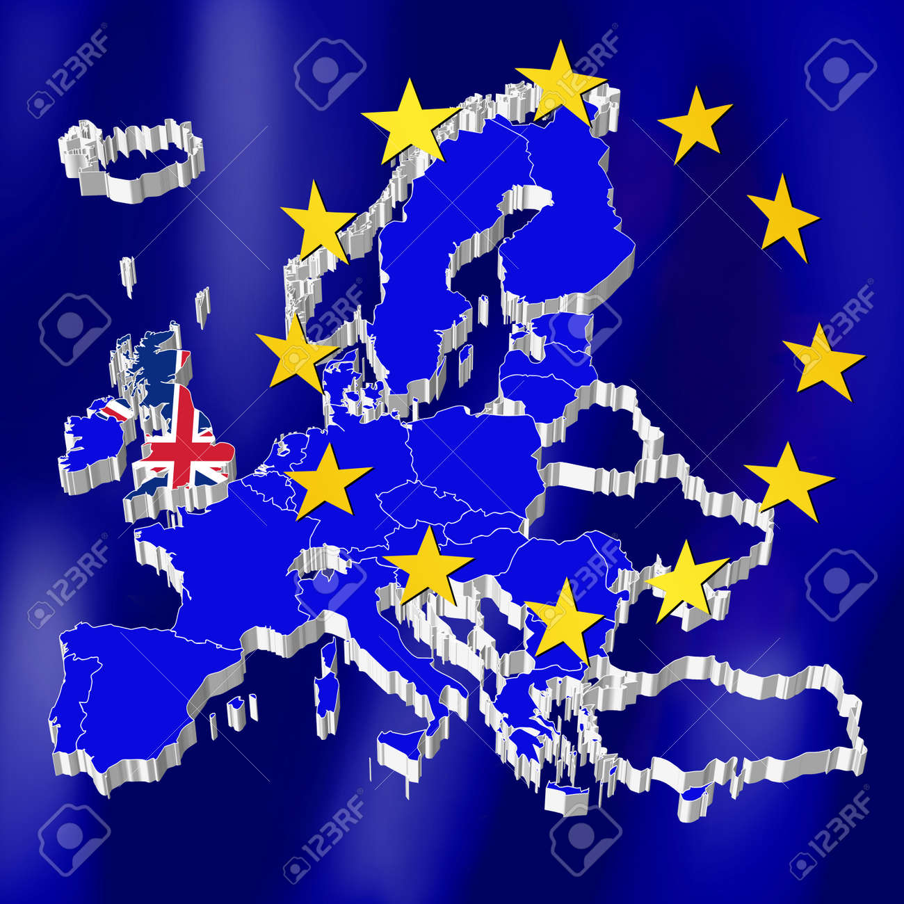 European Union Map - Great Britain Stock Photo, Picture And Royalty ...