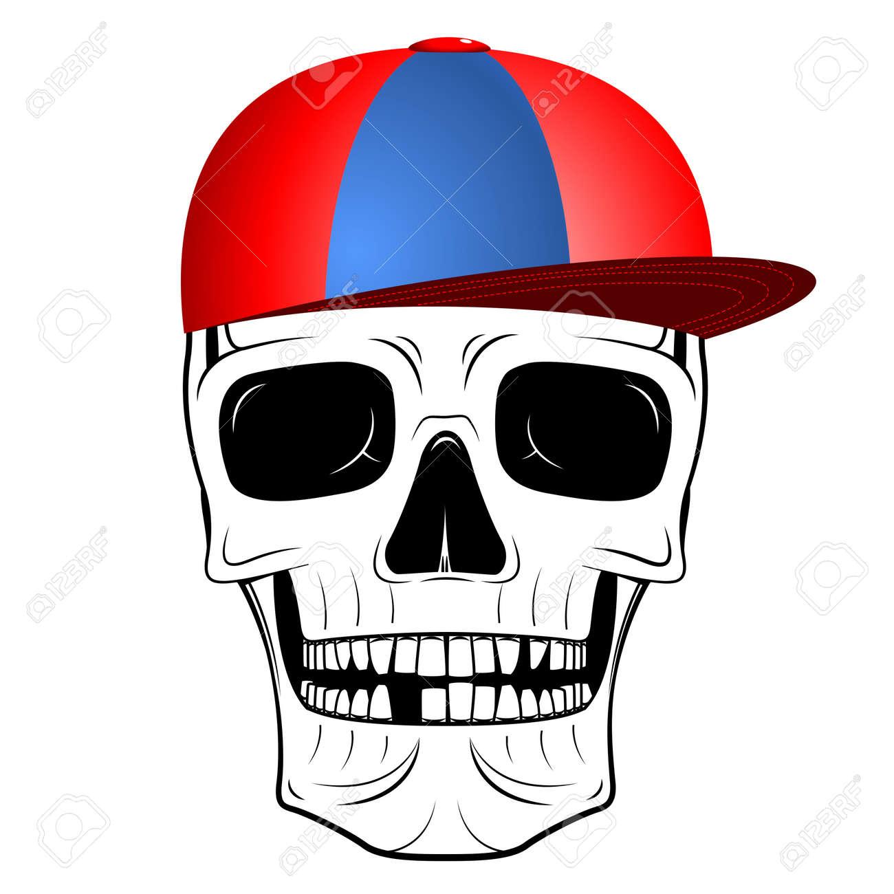 Ilustración Del Cráneo - Gorra De Béisbol Fotos, Retratos, Imágenes ...