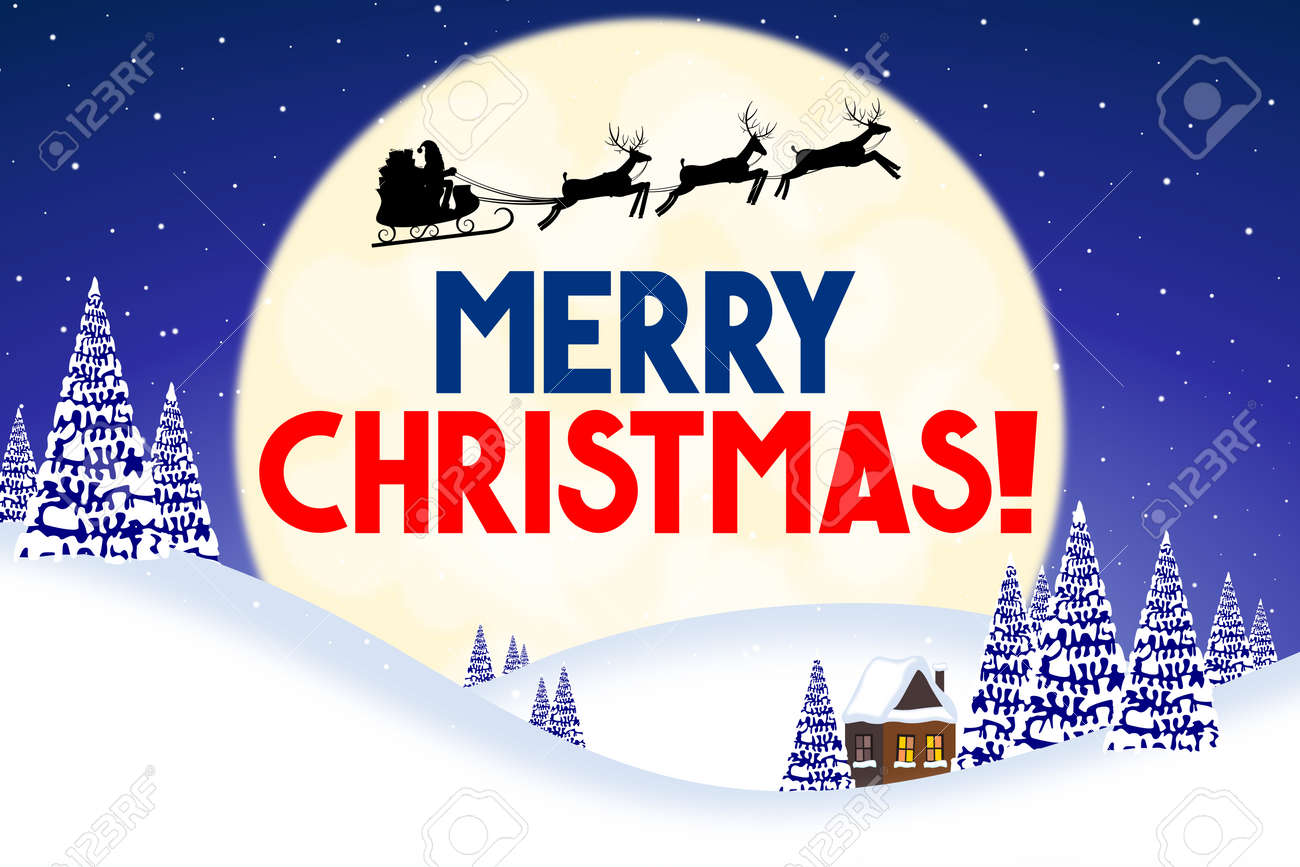 Christmas Card - Merry Christmas! Stock Photo, Picture And Royalty ...