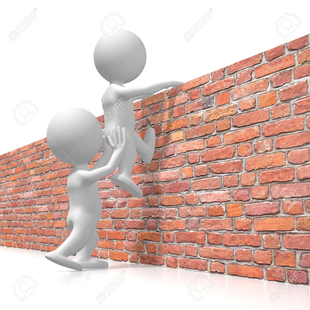 Helping getting over the wall concept - 110066083