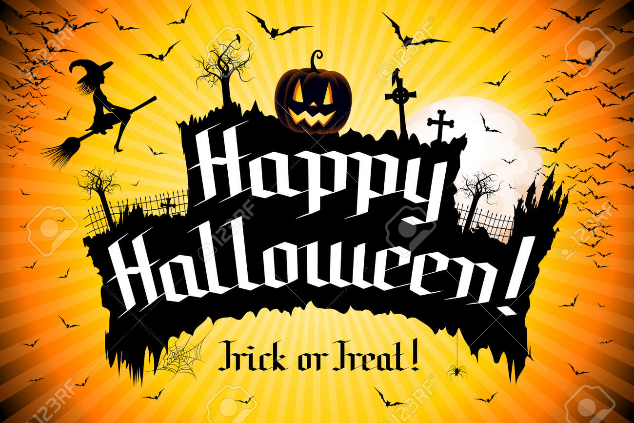 Happy Halloween Banner Stock Photo Picture And Royalty Free Image Image 122179766