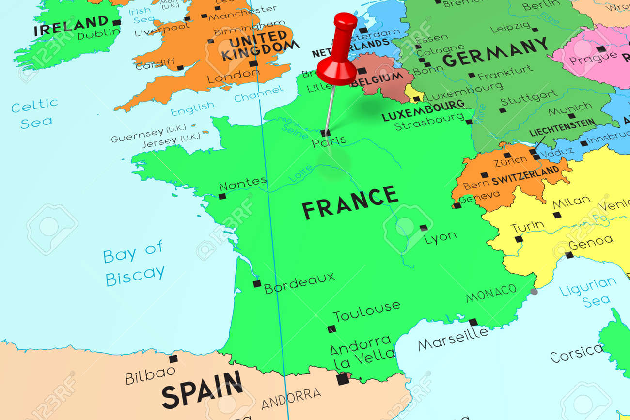 Map Of France With Paris