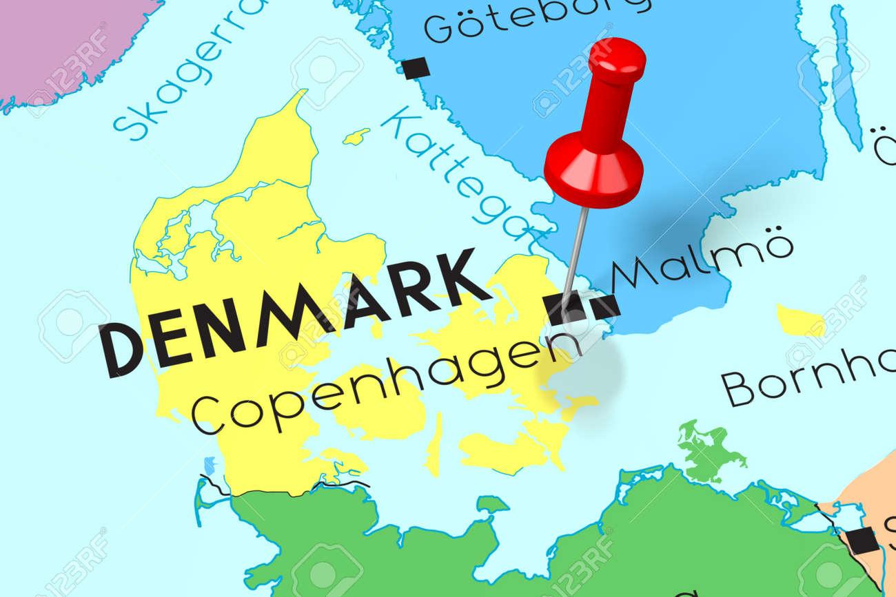 Denmark, Copenhagen - capital city, pinned on political map on denmark map information, denmark on world map, denmark on a atlas, denmark sweden, denmark on chart, denmark city, copenhagen tourist map, netherlands map, denmark in the us, denmark in the world, denmark germany map, denmark country, denmark globe, denmark people, denmark map s, denmark europe, denmark map usa, denmark on european map, denmark road map,