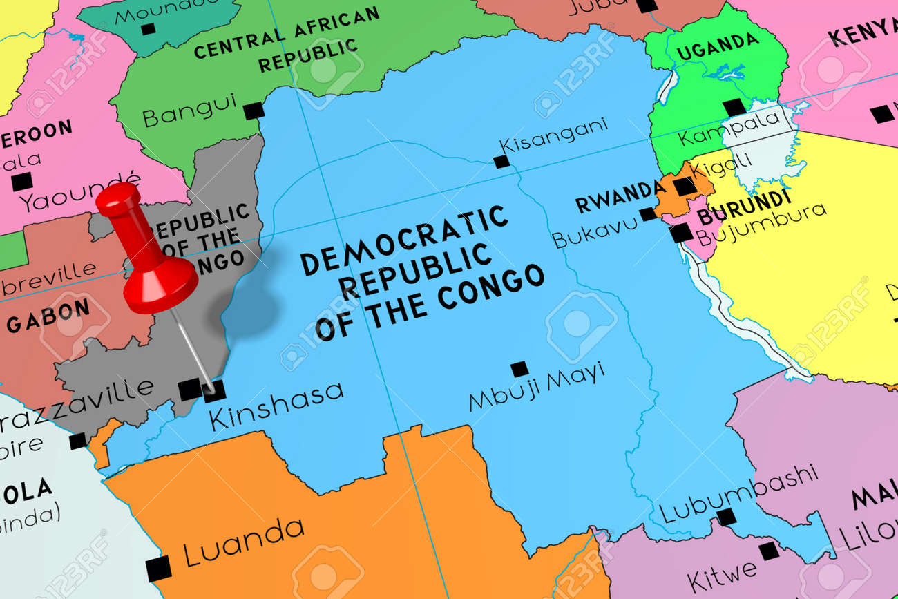 Picture of: Democratic Republic Of The Congo Kinshasa Capital City Pinned Stock Photo Picture And Royalty Free Image Image 126401774