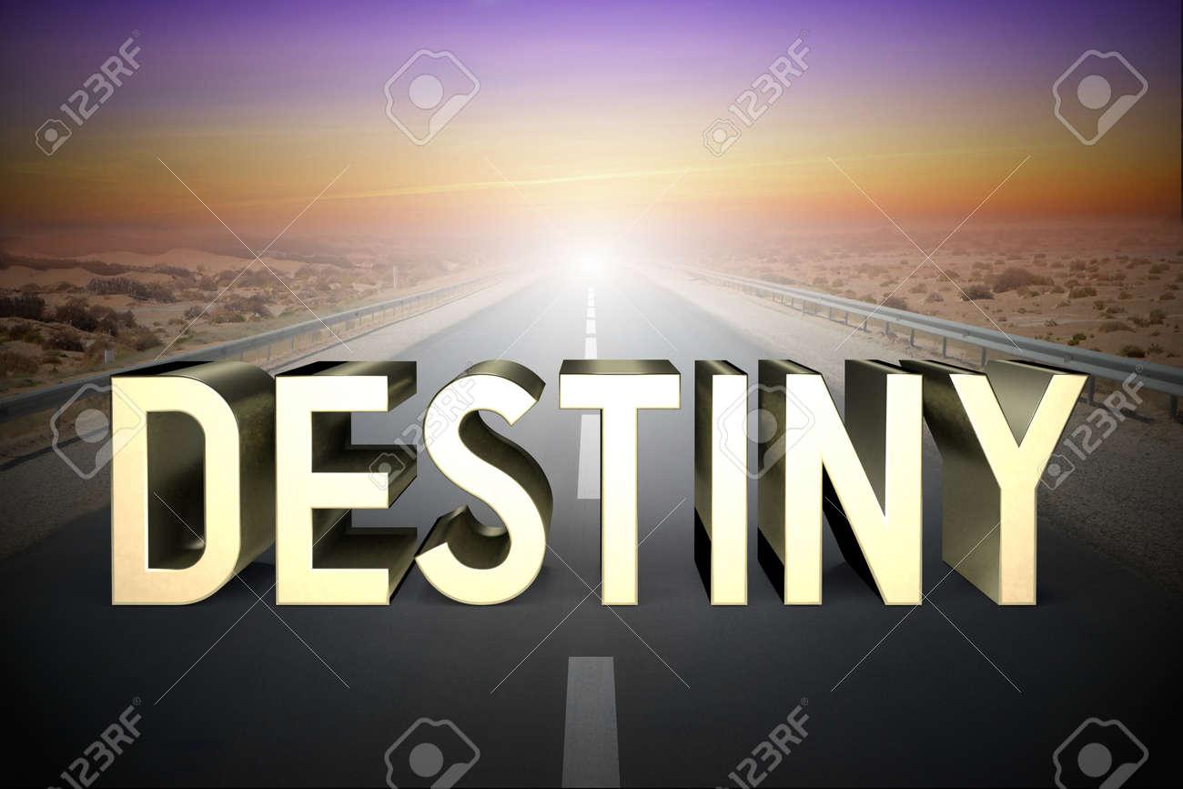 Destiny concept, road - 3D rendering - 136222084