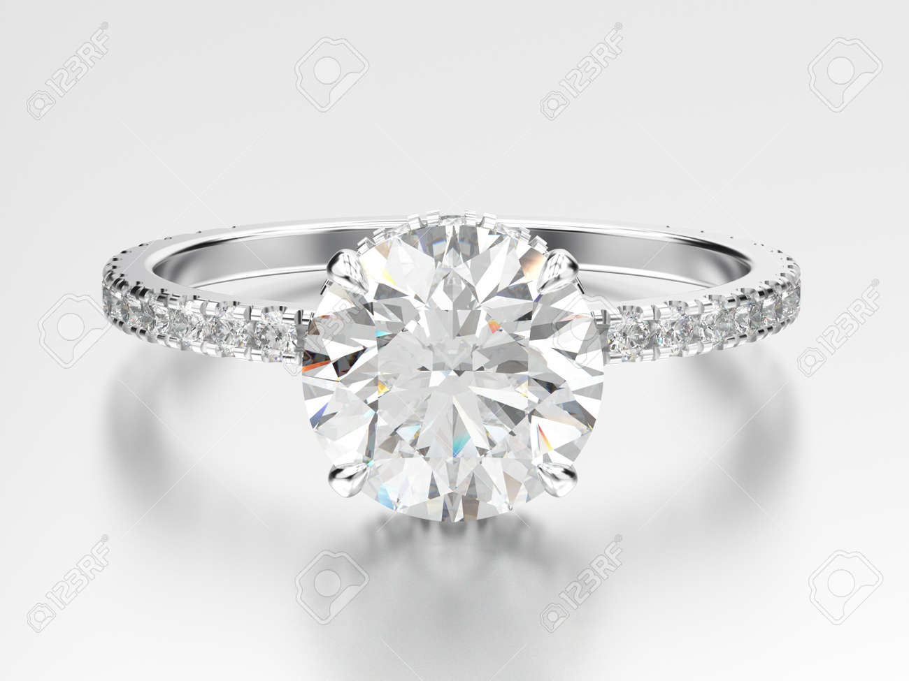 solitaire classic engagement traditional gold in diamond ring rings white prong setting