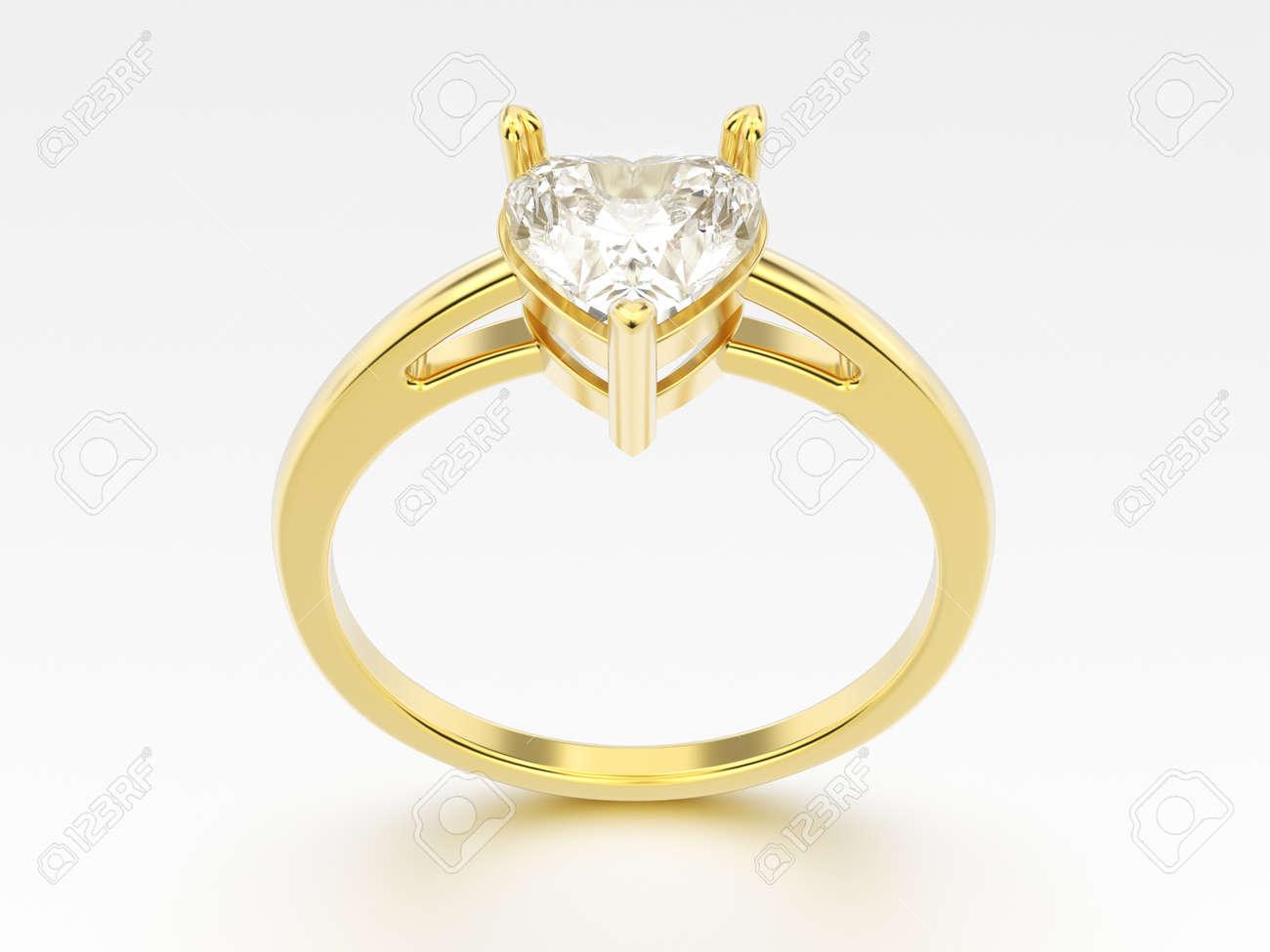 bague en or avec un coeur