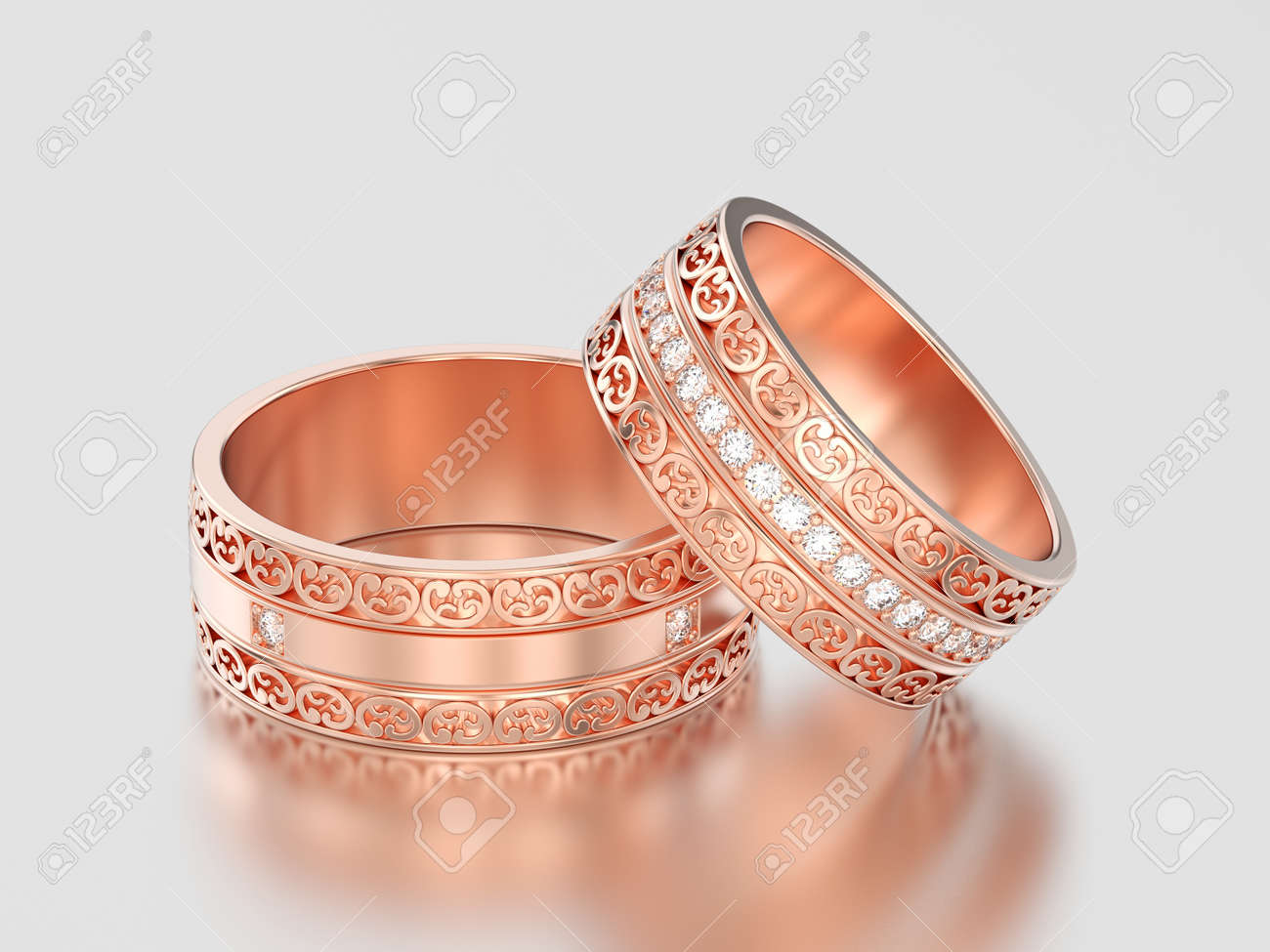 wedding handmade jewellery unusual platinum inlaid stripes rings carved gold with ring