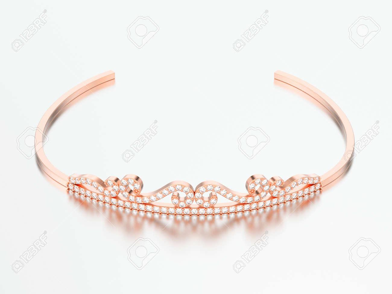 ahorre hasta 80% comprar baratas precio oficial 3d ilustración de oro joya de diamante de oro diadema linda sobre un fondo  gris