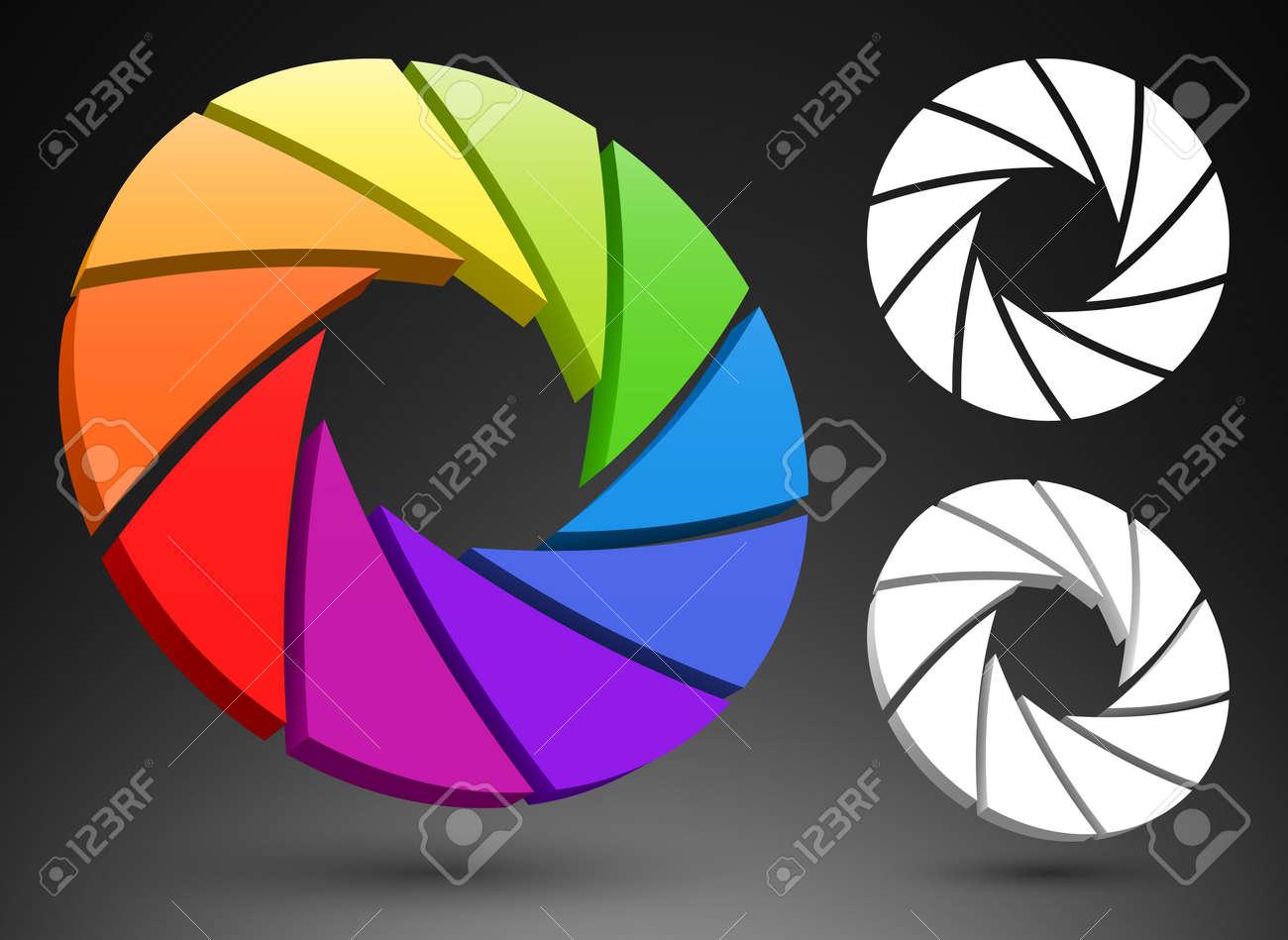 Aperture color wheel 3D Stock Vector - 13858407