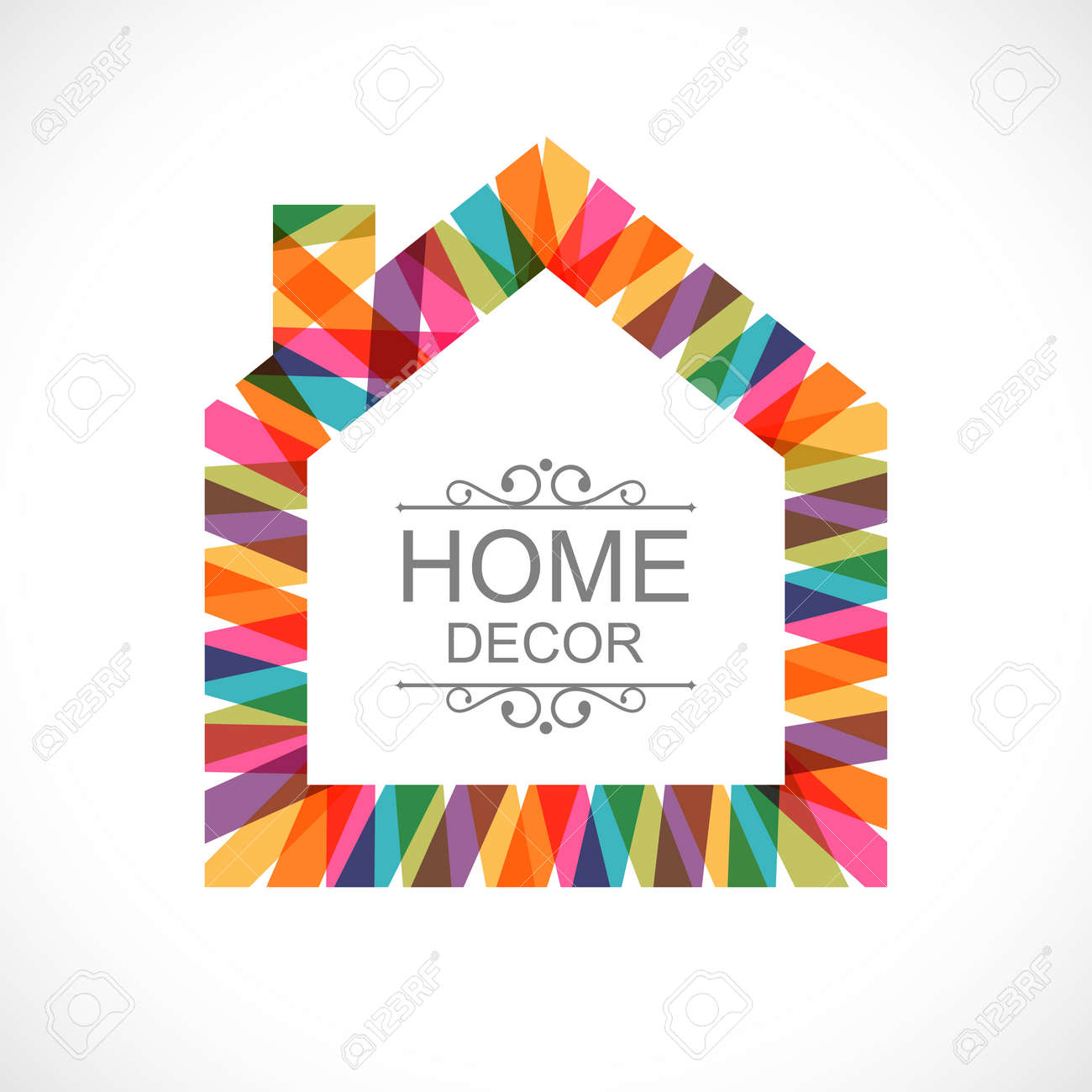 Creative House Decoration Icon Royalty Free Cliparts Vectors And