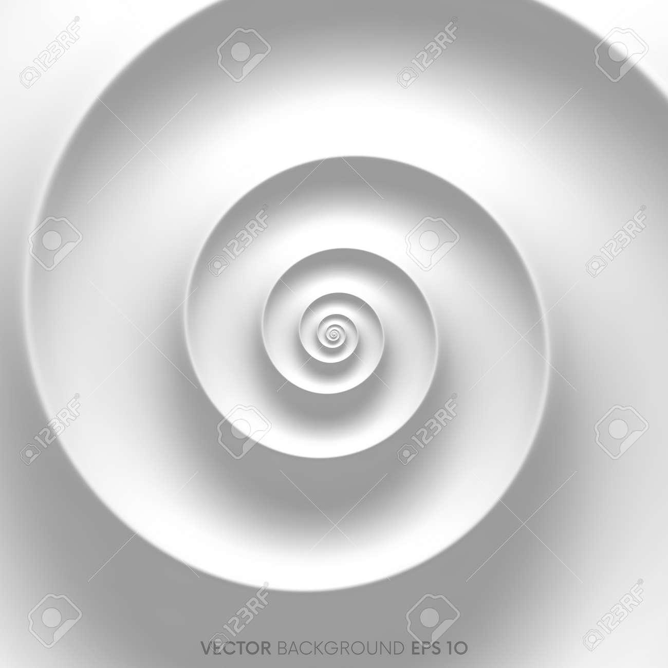 Fibonacci spiral white abstract background - 75061479