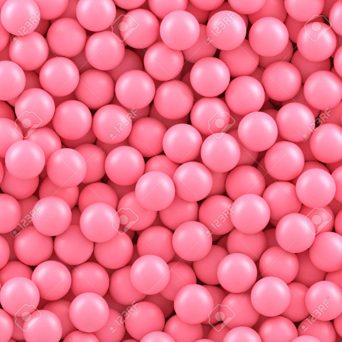 Fondo De Bolas De Caramelo De Color Rosa. Ilustración Del Vector ...
